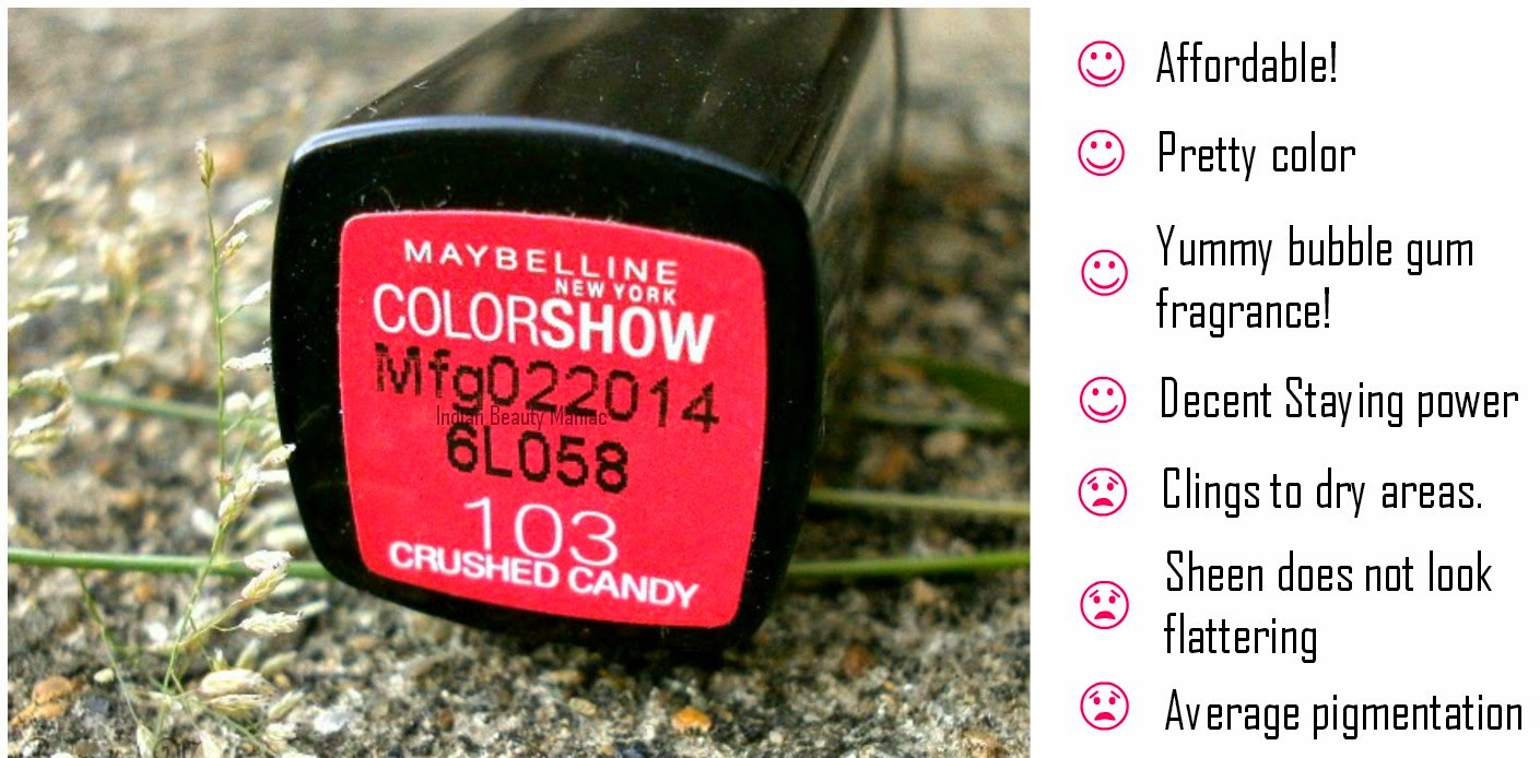 Maybelline Color Show Lipstick in 103 Crushed Candy