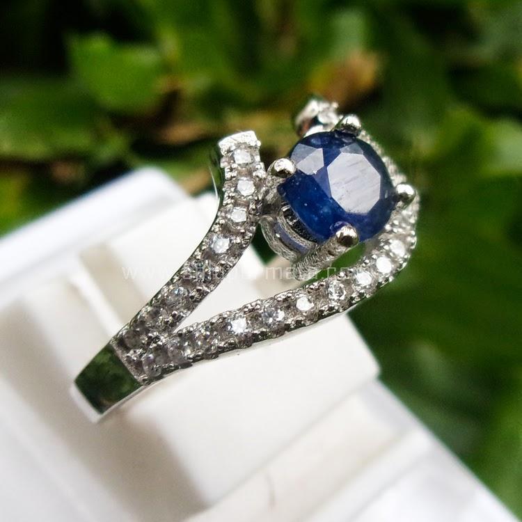 Cincin Batu Permata Blue Sapphire Ceylon - SP569