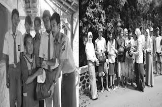 Ratusan siswa SMAN 1 Kraksaan Kabupaten Probolinggo, bagi-bagi sembako