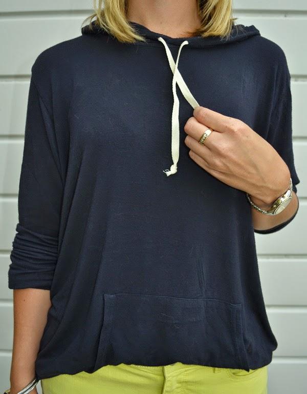 Brandy Melville sweatshirt, Ann Taylor yellow jeans, style blog