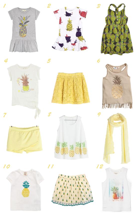 Moda infantil primavera verano 2014 piñas