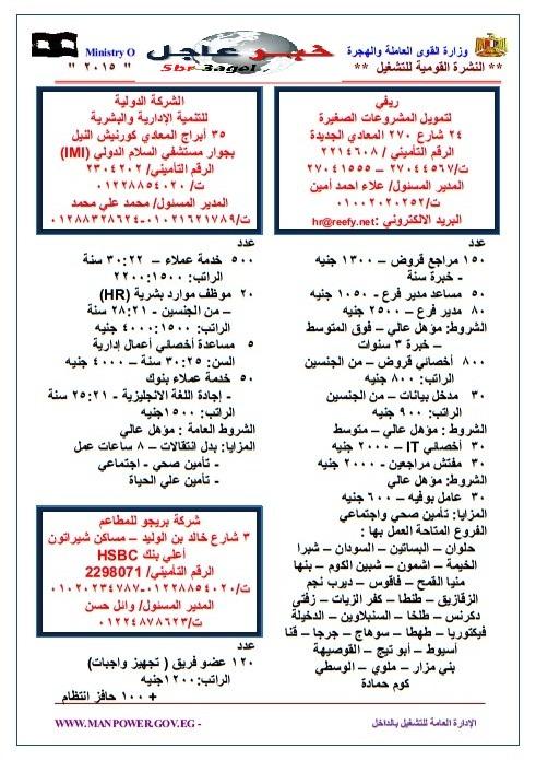 وزارة القوى العاملة تعلن 13976 وظيفة للجميع رواتب حتى 4000 جنية والتقديم الان