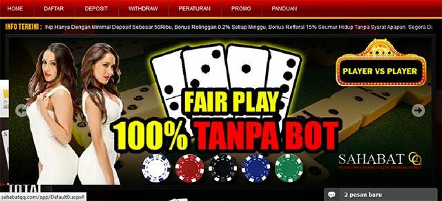 sahabatqq.com agen domino99 dan poker online terpercaya dan terbesar di indonesia