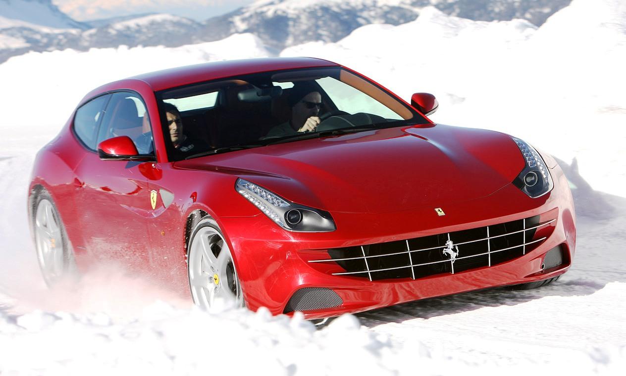 Ferrari FF At Snowy Track Car Wallpaper 159