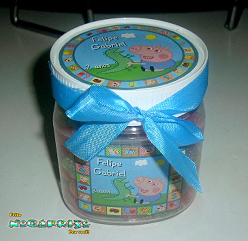 Potinhos Reciclados Personalizados - George Pig