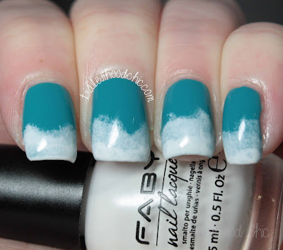 faby pacific jewels and neon lights sugarful cloudy gradient nails
