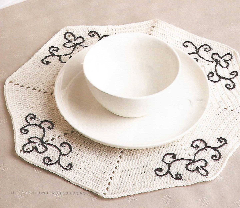 Le crochet des8jika d corations de no l set de table - Set de table crochet ...