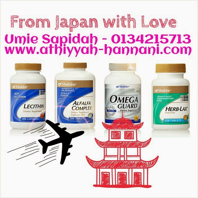 pengeposan produk shaklee ke Jepun