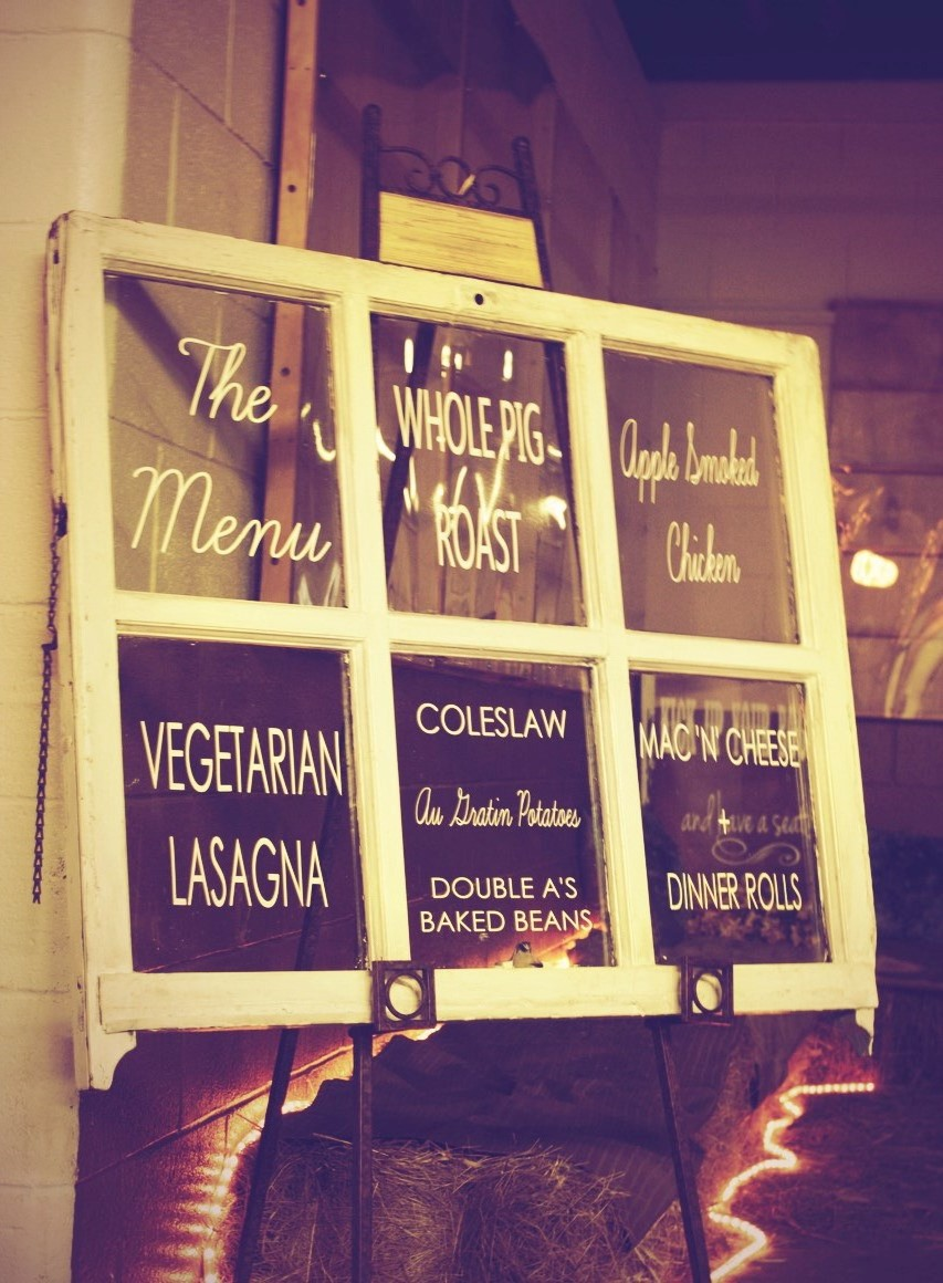 menu sign design