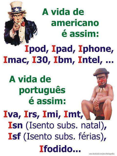 anedota portugueses americanos  crise