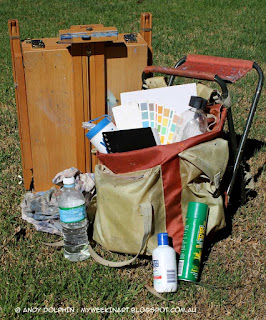 Plein air oil painting kit. Andy Dolphin.