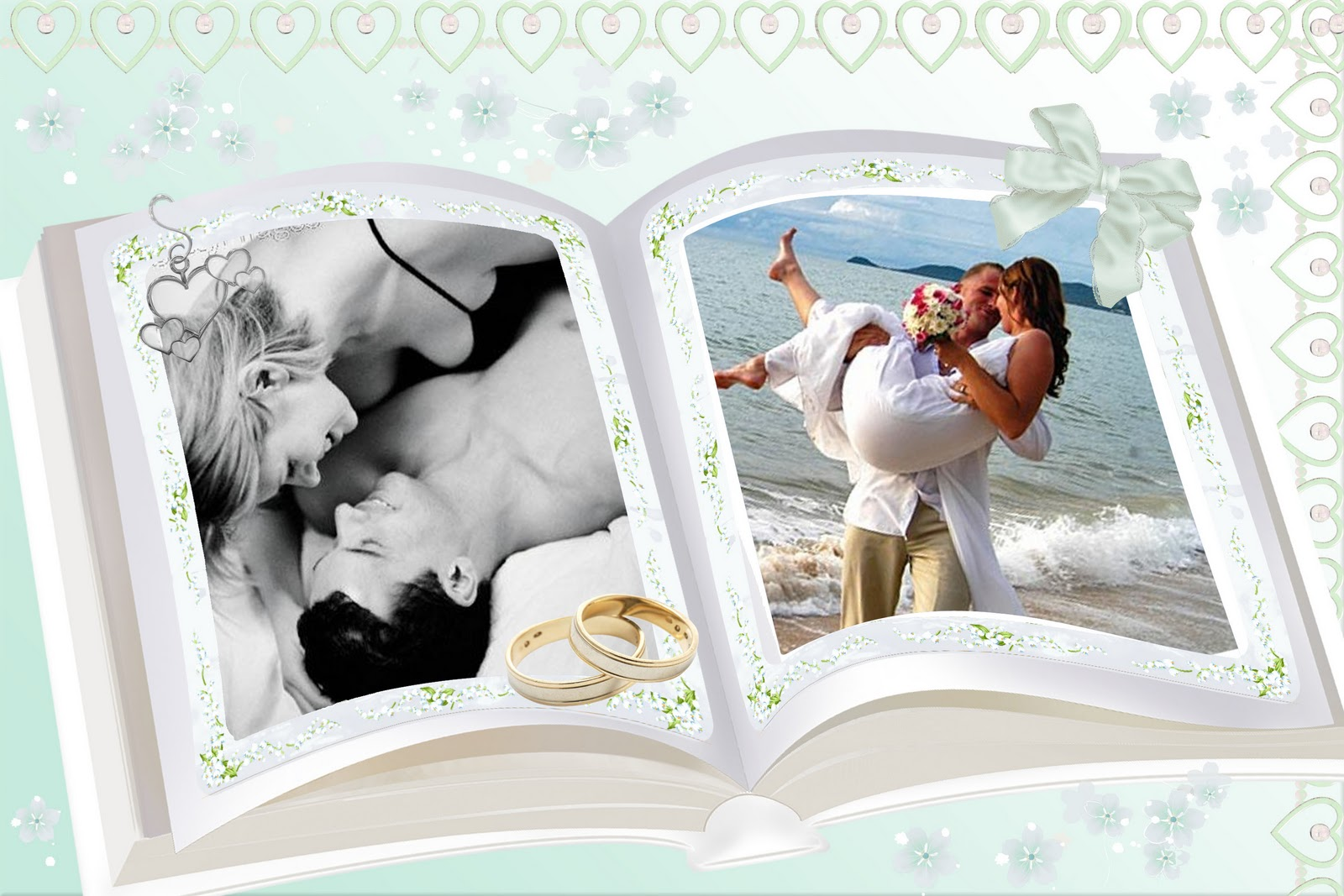 5BArtes Em PSD  Moldura Livro De Casamento Em PSD
