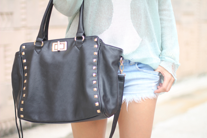 Studded bag by fashion blogger Mónica Sors