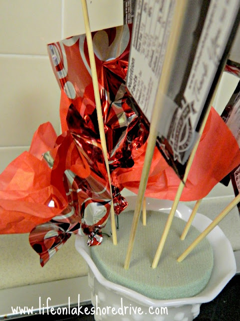 Valentine's Day gift Bouquet of Candy tutorial