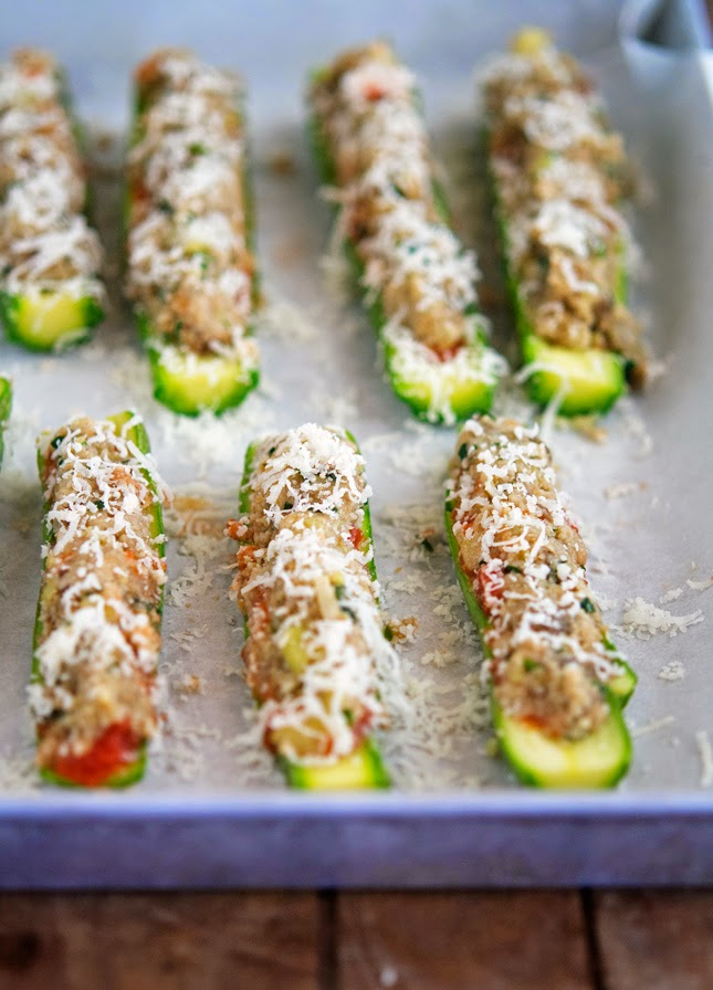 But these Eggplant Parmesan Stuffed Zucchini Boats...they're are not ...