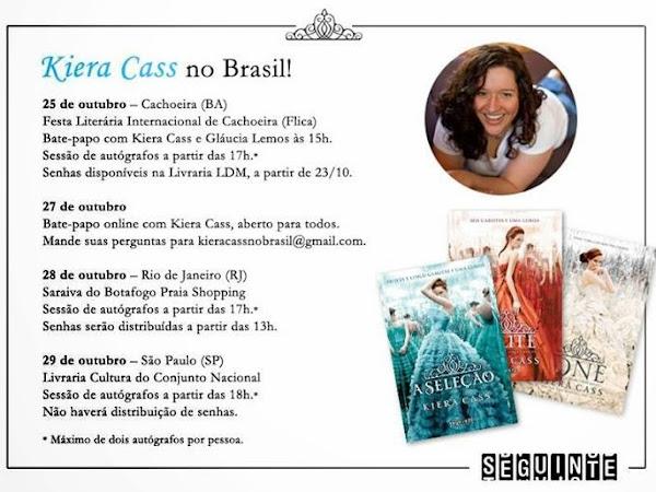 Editora Seguinte divulgou a agenda da Kiera Cass no Brasil