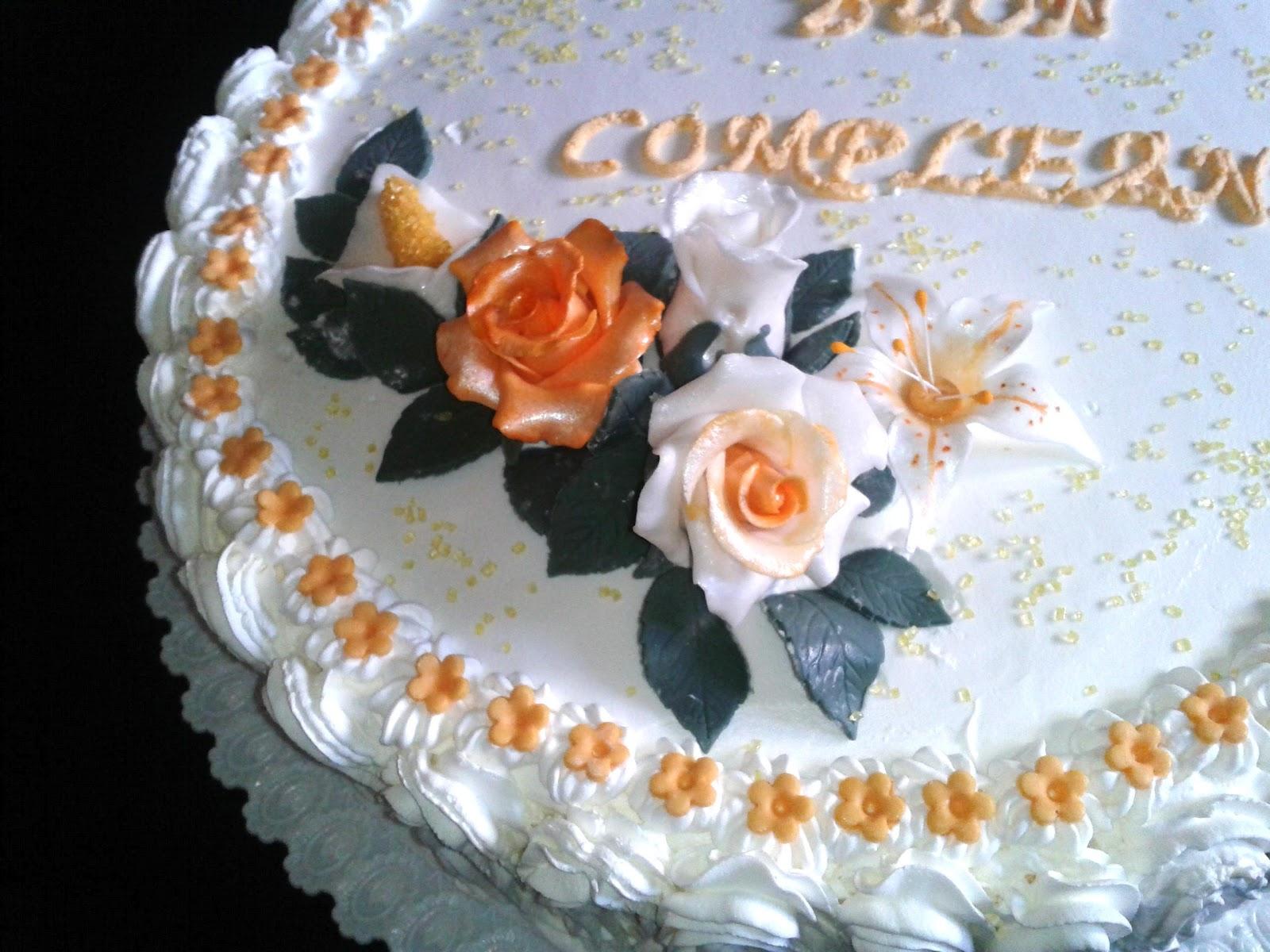 Estremamente Alessandra e i suoi dolci: Torta Panna e Fiori CH64