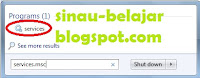Mempercepat Booting Windows 7 Dengan MenDisable Sevice