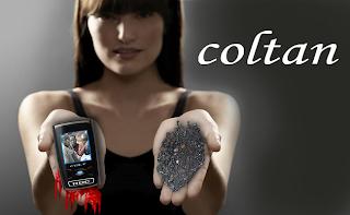 Coltan -  Combinação minerais columbita(Nb) e  tantalita(Ta)
