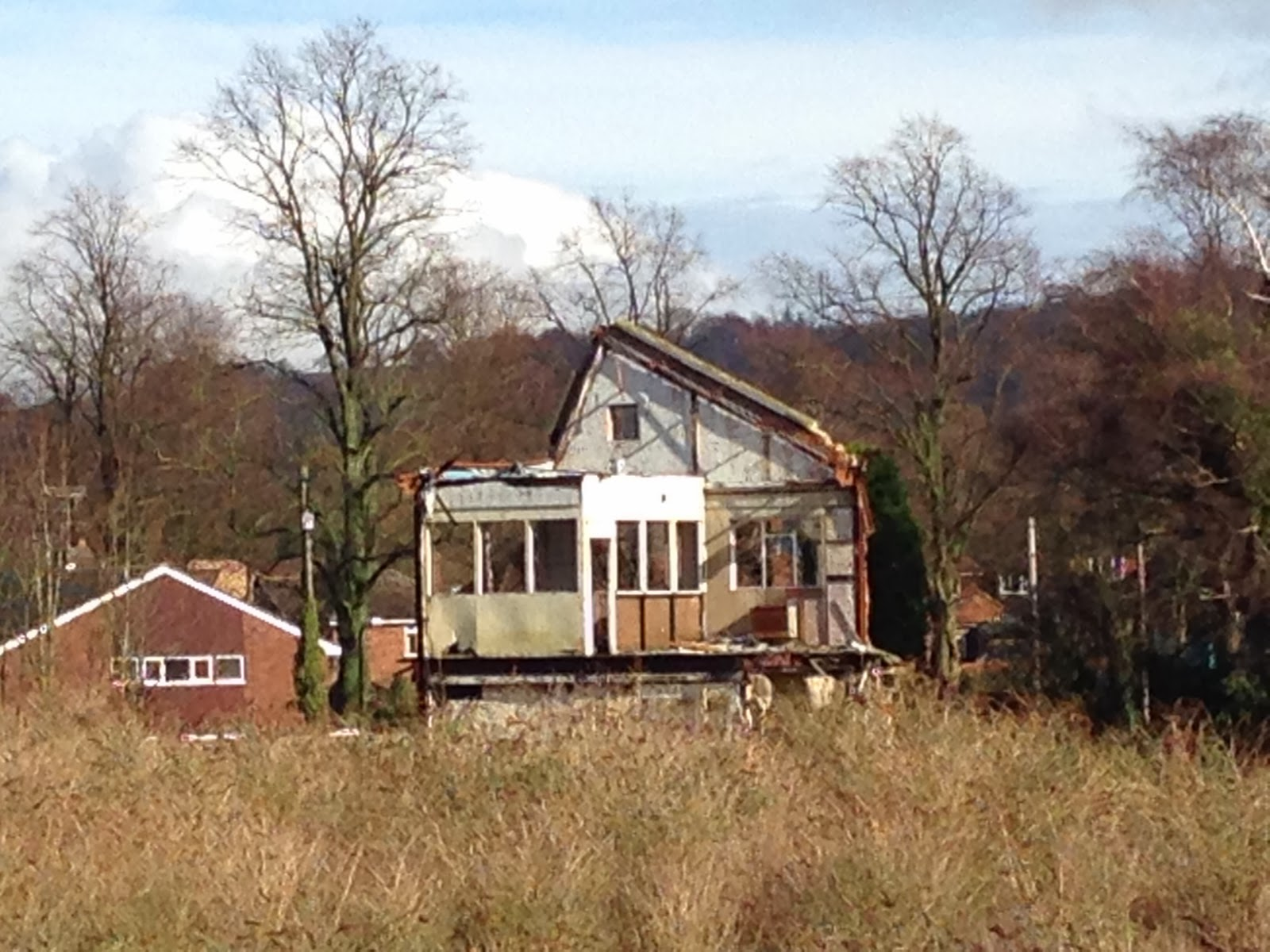 Demolition, near Princes Risborough station