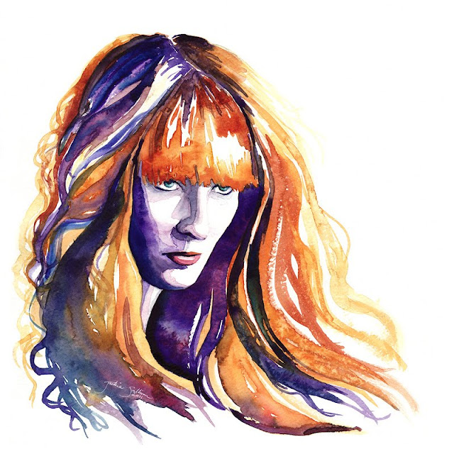 cool watercolor paintings Redhead
