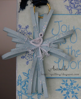 quilling quilled spreuer cross dove christmas ornament