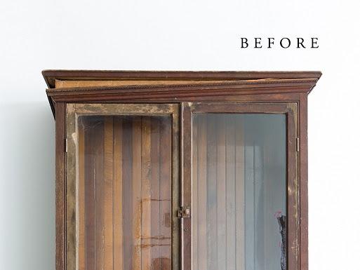 Antes y después de una vitrina