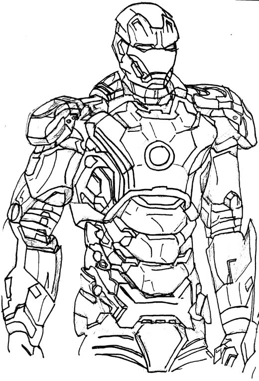 How To Draw Iron Man Mark06 How To Draw Iron Man