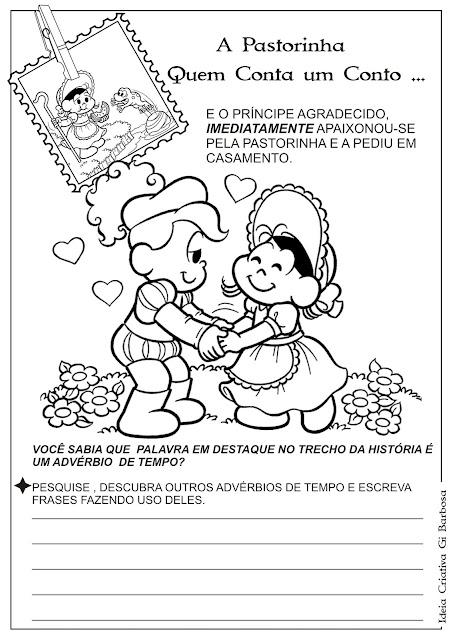 Atividade Advérbio/ Temática Contos de Fada / A Pastorinha