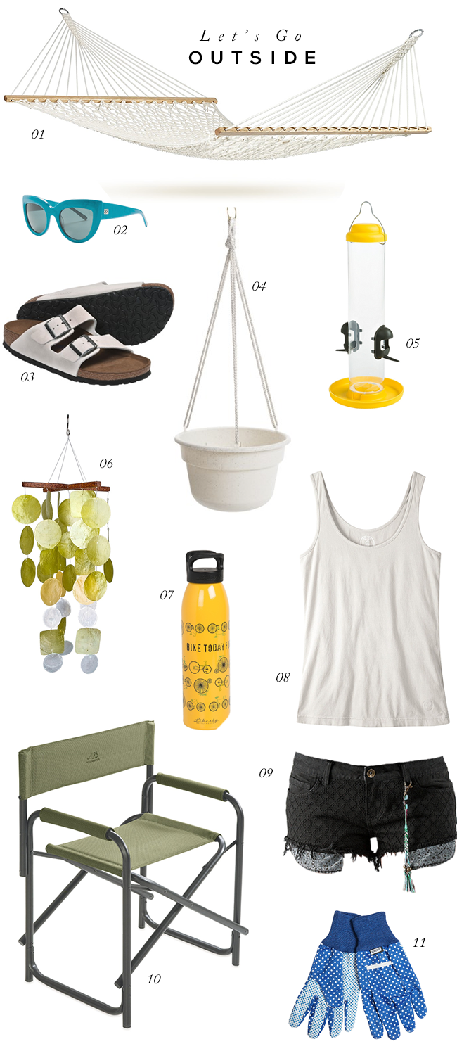 Let's Go Outside: Spring + Summer Essentials (via Bubby and Bean)