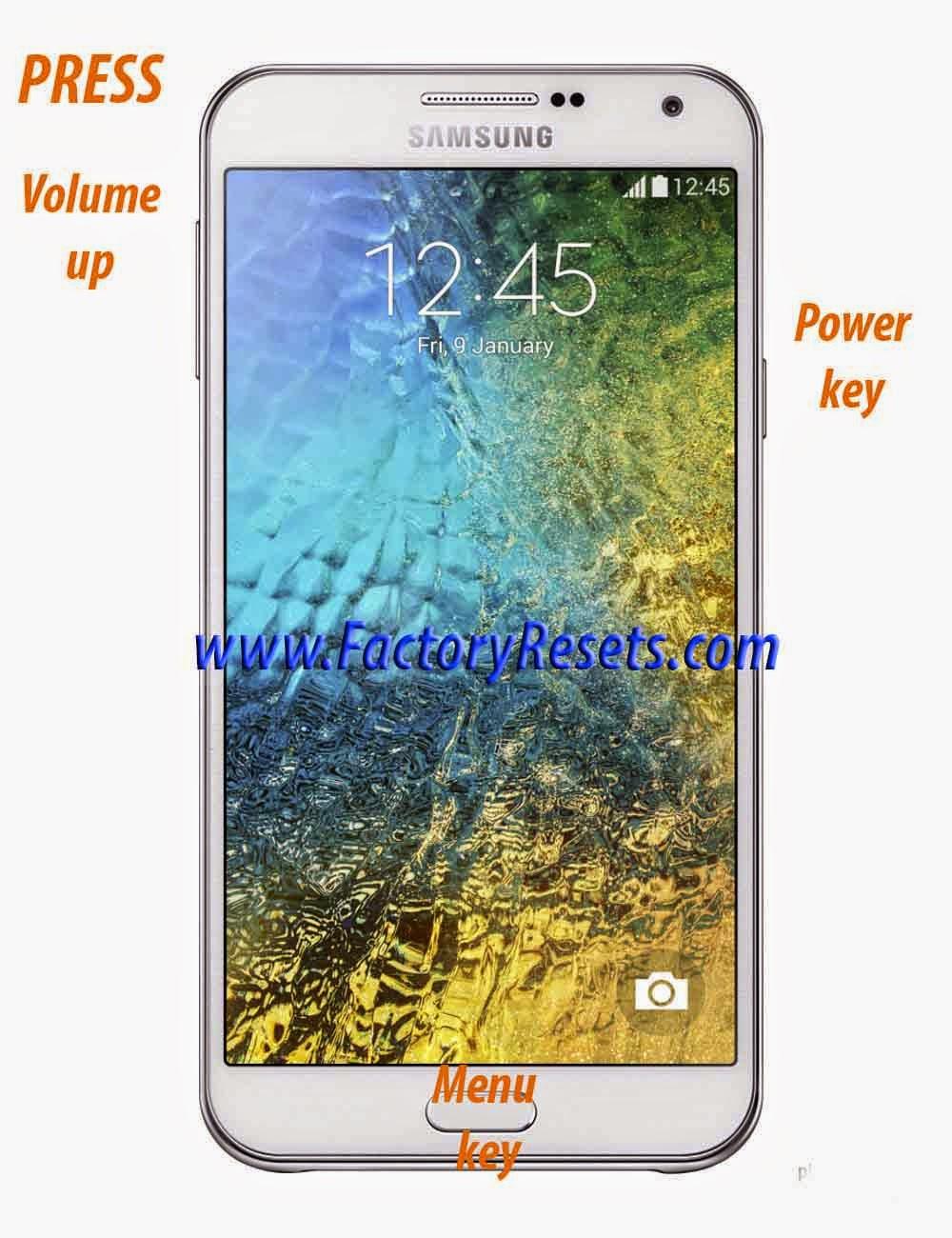 Hard Reset Samsung Galaxy E5