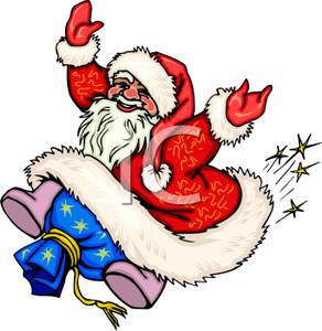 Santa Claus dancing clip art Christian photo