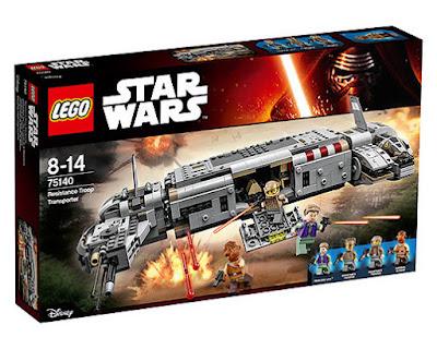 TOYS : JUGUETES - LEGO Star Wars VII 75140 - Transporte de Tropas de la Resistencia Resistance Troop Transporter El Despertar de la Fuerza - The Force Awakens 2016 | Película Disney | Piezas: 646 | Edad: 8-14 años Comprar en Amazon España & buy Amazon USA