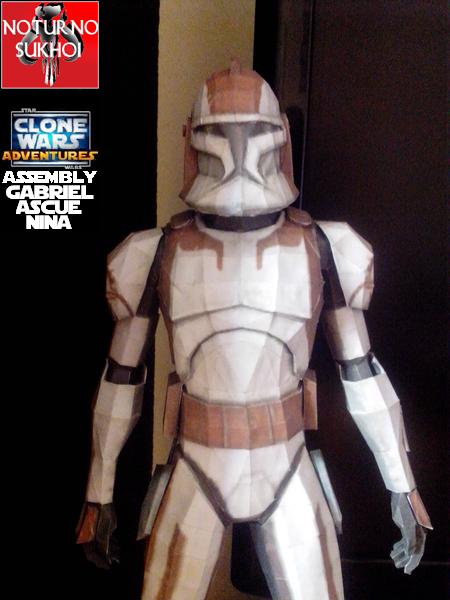 CC5869 Clone Commander Stone Papercraft