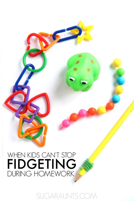 Tips and tools for kids who fidget during homework and classroom activities.