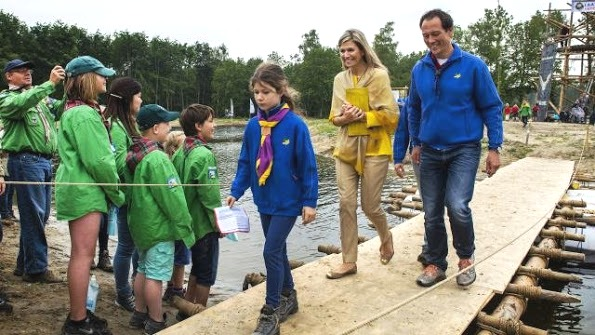 Queen Maxima Attended The Opening Of The New Scouting Estate