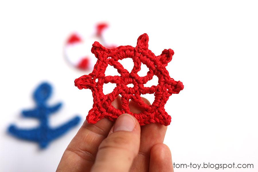 Nautical crochet appliques
