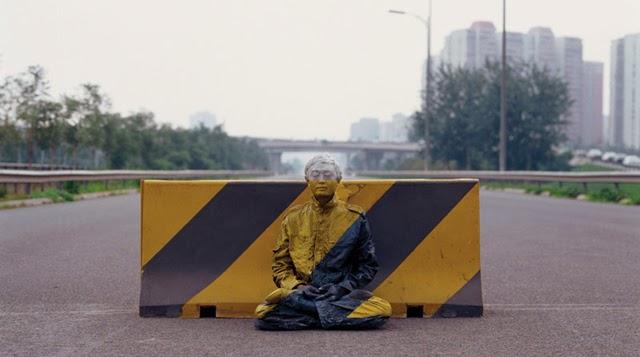 hombre arte invisible Liu Bolin