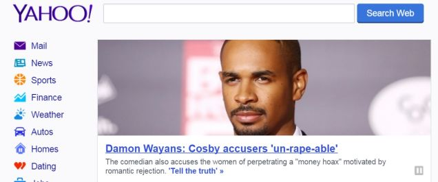 Yahoo clearly flunked Wayans Family Tree 101.