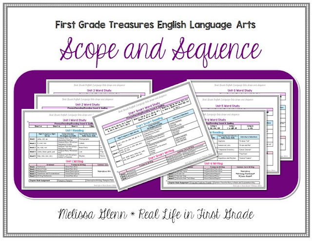 Treasures First Grade Scope and Sequence