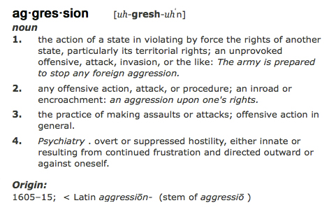 what is the meaning of aggression