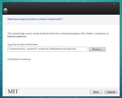 Perbaiki Windows 7 dengan Cepat dengan Membuat Shortcut untuk System Maintenance, perawatan sistem komputer