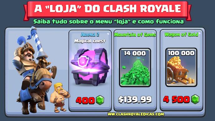 Comprar Baús, Gemas e Ouro em Clash Royale