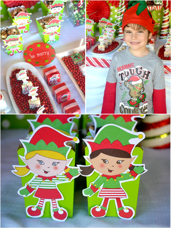 An Elf Bakery Shop and Cookie Decorating Christmas Party with Printables