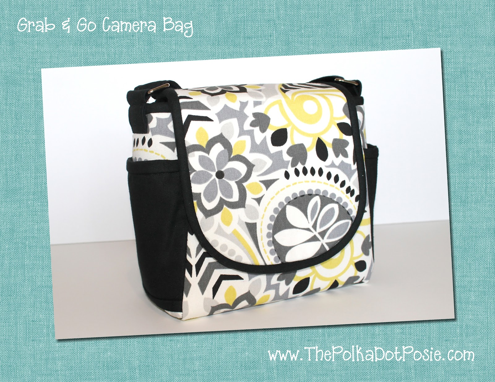 Rosie Posie Medium Zipper Bag