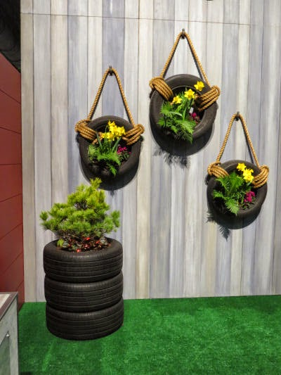 recycled tires planter