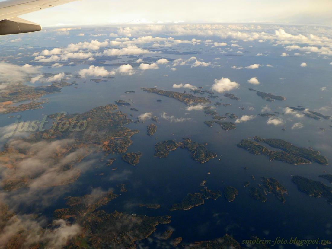 Финляндия под крылом самолета