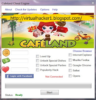how to set up cheat engine for cafeland