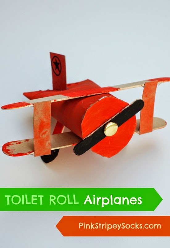 Make Toilet Roll biplanes! Easy and fun kids craft!