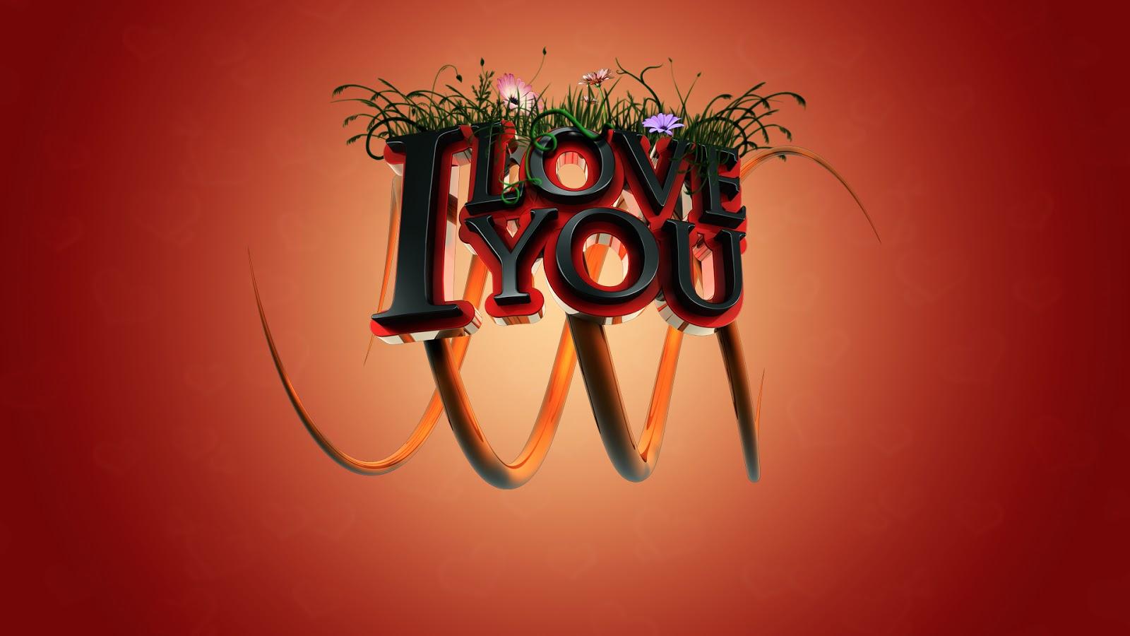 Stylish 3D I Love You Images HD